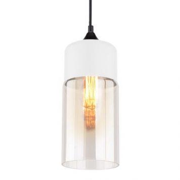 Manhattan  Lampa wisząca – Styl nowoczesny – kolor biały, transparentny, Czarny