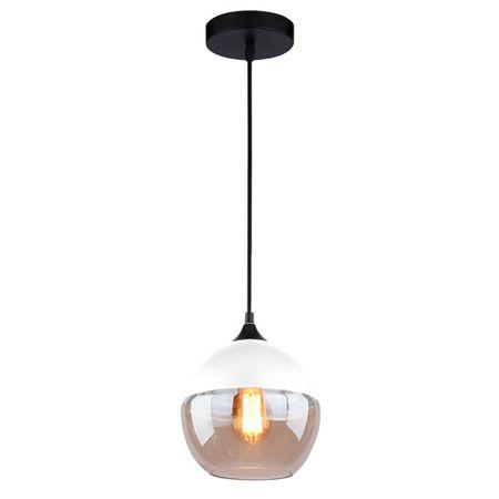 Manhattan  Lampa wisząca – Styl skandynawski – kolor beżowy, biały, transparentny, Czarny