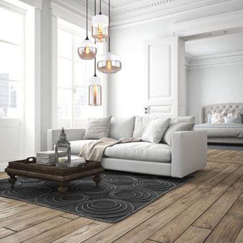 Manhattan  Lampa wisząca – szklane – kolor biały, transparentny, Czarny