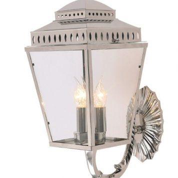 Mansion House Lampa zewnętrzna – szklane – kolor srebrny, transparentny
