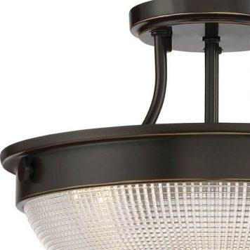 Mantle Lampa sufitowa – klasyczny – kolor brązowy, transparentny