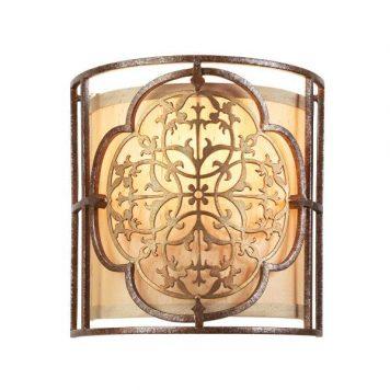 Marcella  Lampa klasyczna – Z abażurem – kolor brązowy, złoty