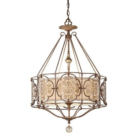 Marcella Lampa wisząca – klasyczny – kolor brązowy, złoty
