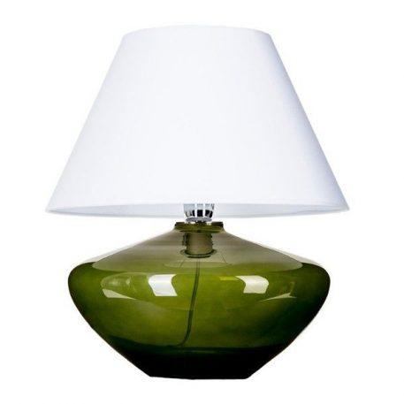 Mardid  Lampa stołowa – szklane – kolor biały, Zielony