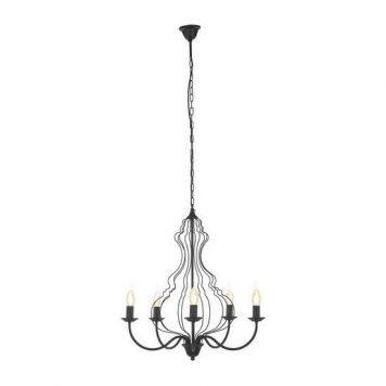 Margaret  Żyrandol – klasyczny – kolor Czarny
