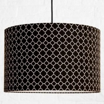 Maroko  Lampa wisząca – Z abażurem – kolor Czarny