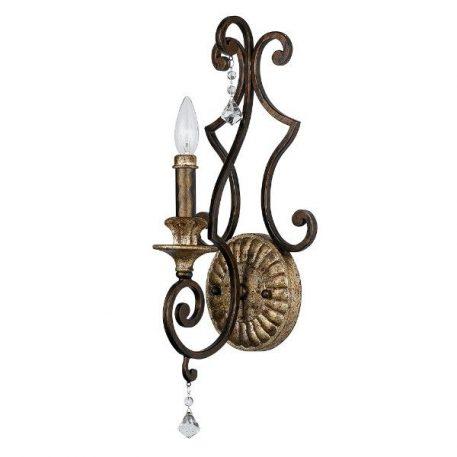 Marquette Lampa klasyczna – klasyczny – kolor brązowy, złoty