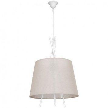 Martin  Lampa wisząca – Styl skandynawski – kolor beżowy, biały