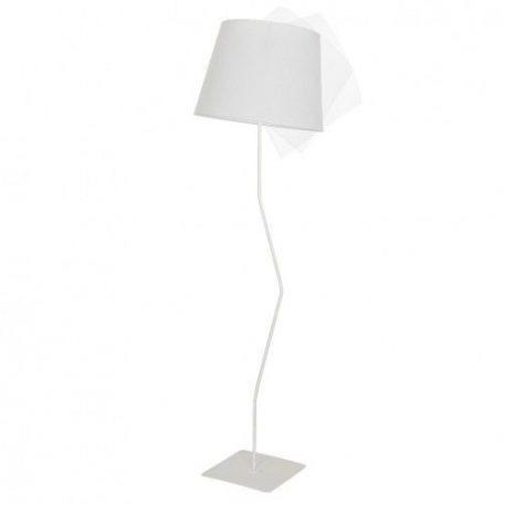 Marylin  Lampa podłogowa – Z abażurem – kolor biały