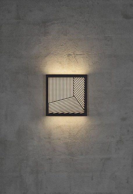 Maze Straight Lampa zewnętrzna – Lampy i oświetlenie LED – kolor Czarny