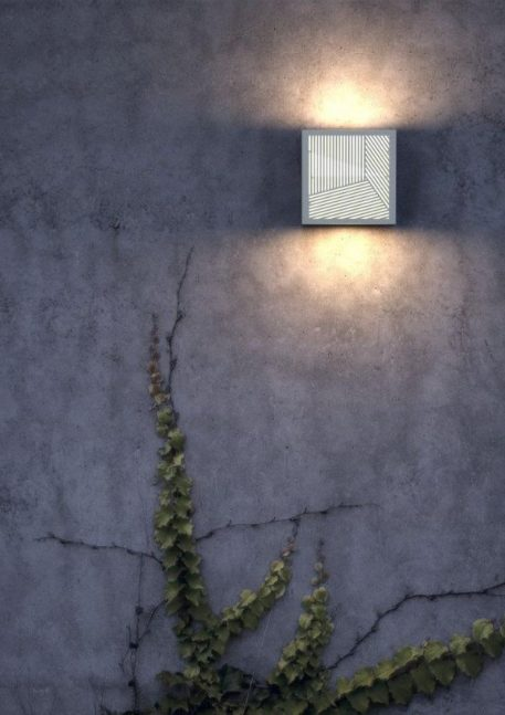 Maze Straight Lampa zewnętrzna – Styl nowoczesny – kolor biały