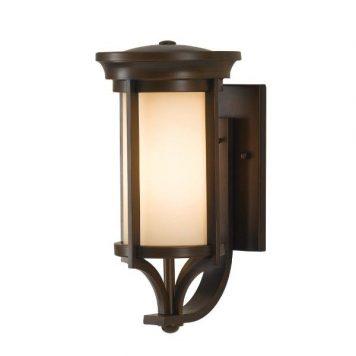 Merrill  Lampa zewnętrzna – szklane – kolor beżowy, brązowy