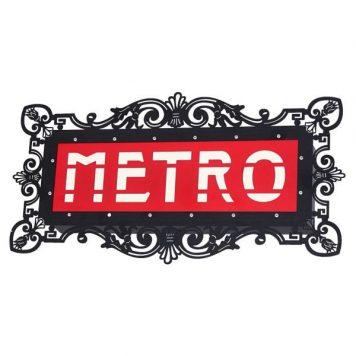 Metro  Lampa nowoczesna – Styl nowoczesny – kolor Czarny, Czerwony