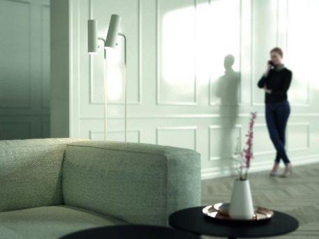 MIB 6 Lampa podłogowa – Styl nowoczesny – kolor biały