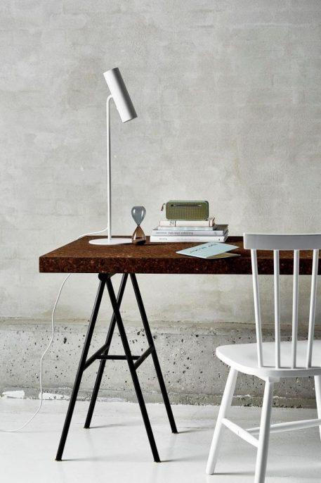 MIB Lampa nowoczesna – Biurkowe – kolor biały
