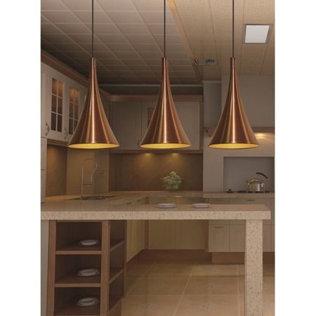 Mid Century Glam Lampa wisząca – Styl nowoczesny – kolor miedź, złoty