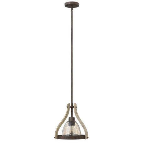 Middlefield  Lampa wisząca – szklane – kolor brązowy, transparentny