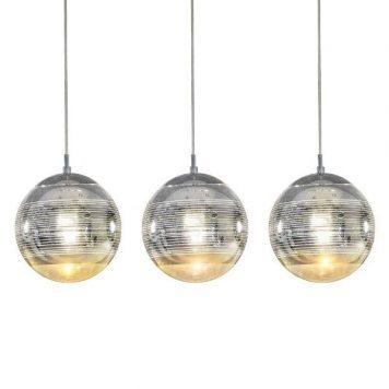 Mila  Lampa wisząca – Styl nowoczesny – kolor srebrny, transparentny