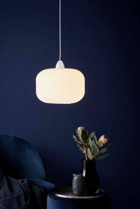 Milford Lampa wisząca – szklane – kolor biały