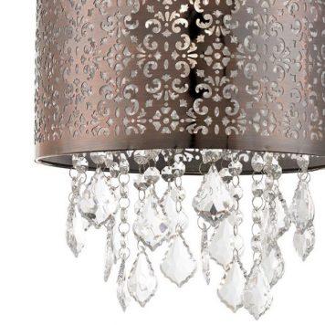 Moccas Lampa wisząca – Styl glamour – kolor brązowy, mosiądz