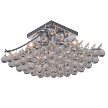 Model  Lampa sufitowa – kryształowe – kolor srebrny, transparentny