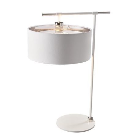 Modern  Lampa nowoczesna – Z abażurem – kolor biały