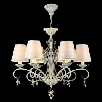 Monile Żyrandol – Z abażurem – kolor biały, złoty