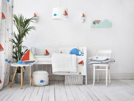 Morska przygoda Kinkiet – Z abażurem – kolor biały