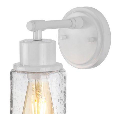 Morvah Lampa industrialna – industrialny – kolor biały, transparentny