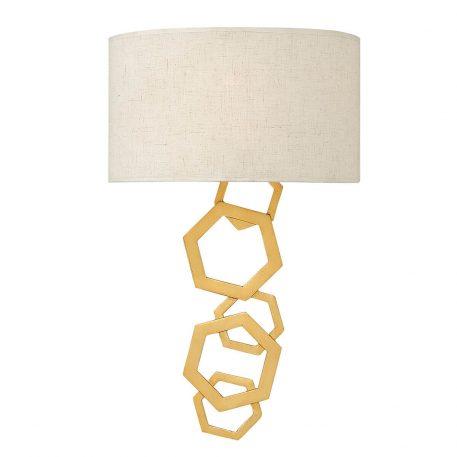 Moxi Lampa nowoczesna – Styl nowoczesny – kolor beżowy, złoty
