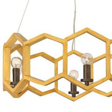 Moxi Żyrandol – industrialny – kolor złoty