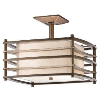 Moxie  Lampa sufitowa – Z abażurem – kolor beżowy, brązowy