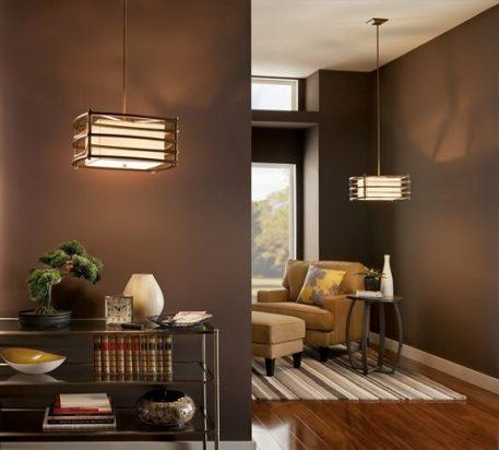 Moxie Lampa wisząca – Styl nowoczesny – kolor beżowy, brązowy