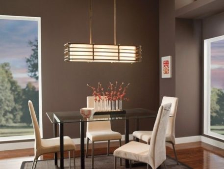 Moxie  Lampa wisząca – Z abażurem – kolor beżowy, brązowy