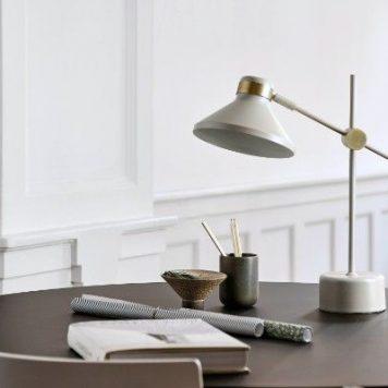 Mr  Lampa skandynawska – Biurkowe – kolor beżowy