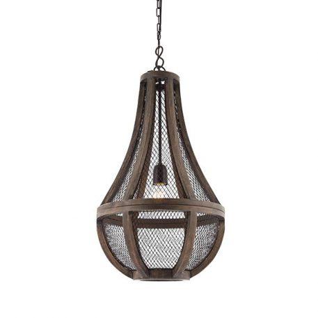 Nadina Lampa wisząca – industrialny – kolor brązowy, Czarny