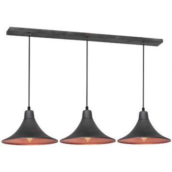 Nani  Lampa wisząca – industrialny – kolor miedź, Szary