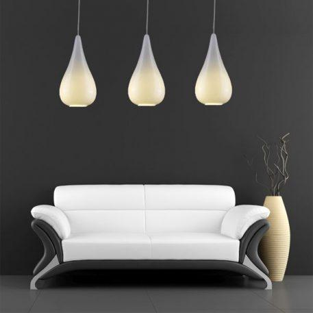 Naomi Lampa wisząca – szklane – kolor biały, srebrny