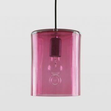 Neo Lampa wisząca – szklane – kolor różowy, transparentny