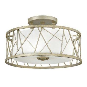 Nest  Lampa sufitowa – Styl nowoczesny – kolor biały, srebrny