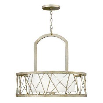 Nest  Lampa wisząca – Styl nowoczesny – kolor biały, srebrny