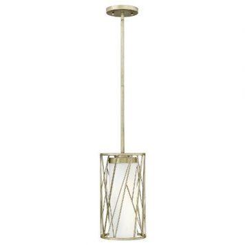 Nest  Lampa wisząca – szklane – kolor biały, srebrny