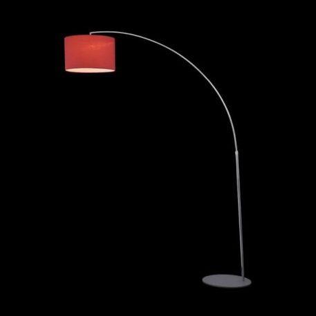 Nevada  Lampa podłogowa – Z abażurem – kolor srebrny, Czerwony