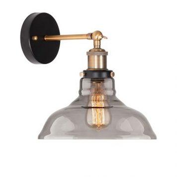 New York  Lampa industrialna – szklane – kolor złoty, Czarny, Szary