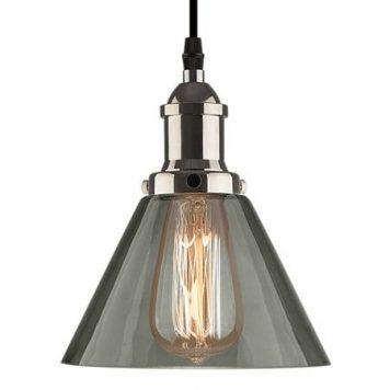 New York Lampa wisząca – szklane – kolor srebrny, Szary