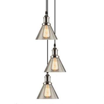New York Loft Lampa wisząca – Styl skandynawski – kolor srebrny, transparentny