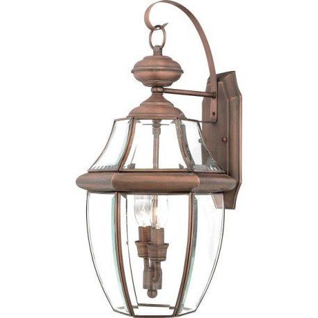 Newbury Lampa zewnętrzna – klasyczny – kolor brązowy, miedź, transparentny
