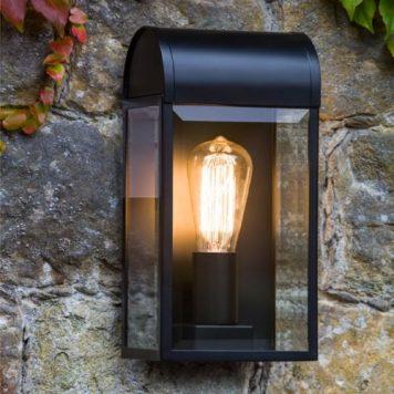 Newbury  Lampa zewnętrzna – klasyczny – kolor transparentny, Czarny