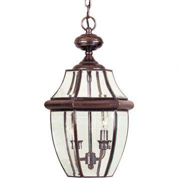 Newbury Lampa zewnętrzna – szklane – kolor brązowy, miedź, transparentny
