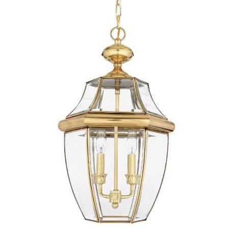 Newbury Lampa zewnętrzna – szklane – kolor transparentny, złoty
